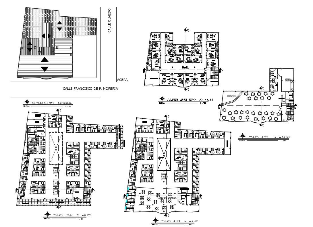 Corporate Office Floor Plan DWG File