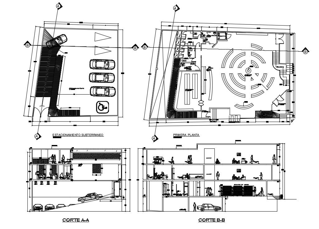 Corporate Office Plan In CAD Blocks
