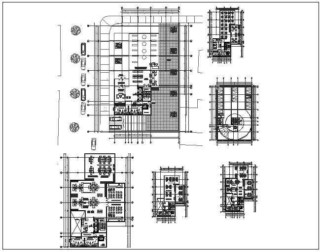 Corporate building floor plan dwg file