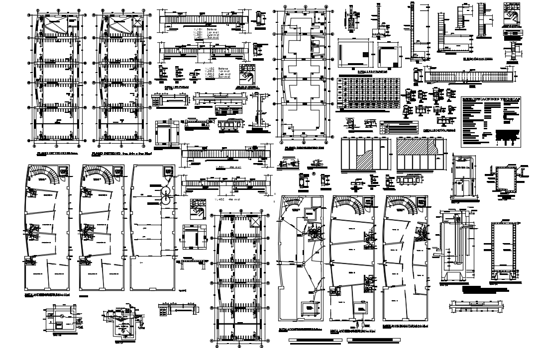 Corporate building structure dwg file