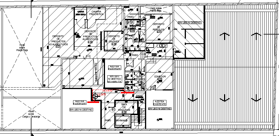 Corporate office layout of industrial plant dwg file