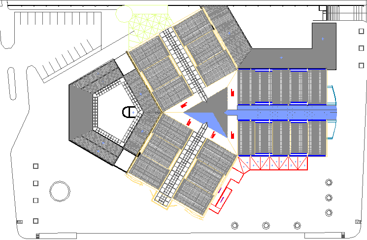 Corrected ceiling pluvial details of shopping mall dwg file
