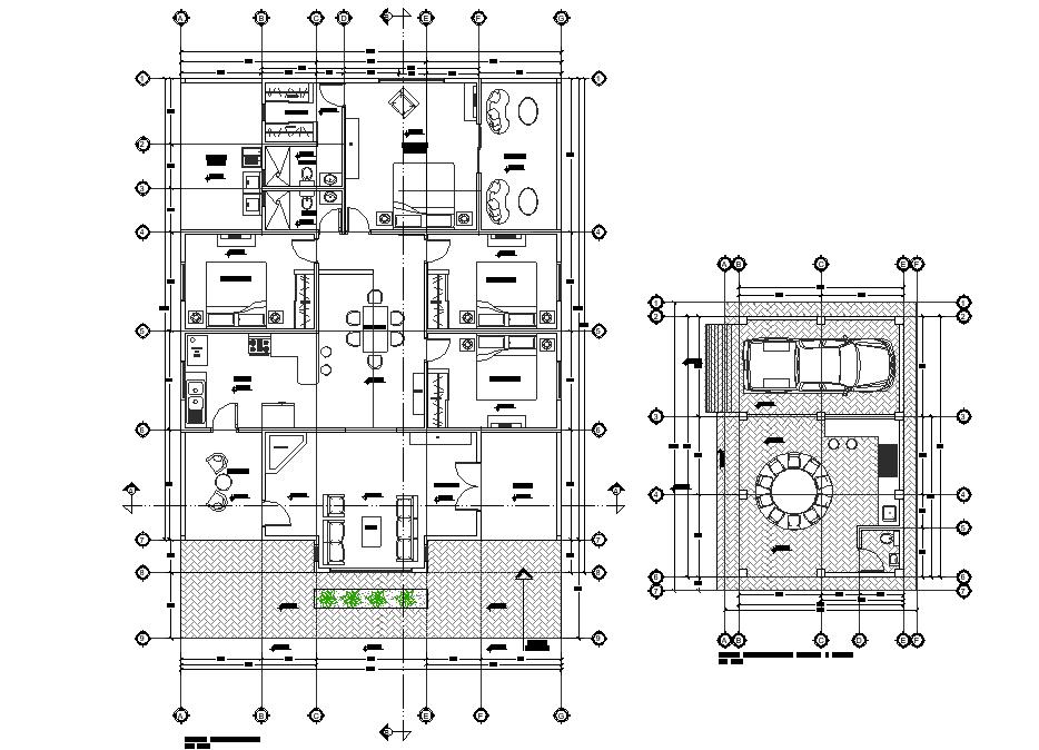 Cottage plan layout file