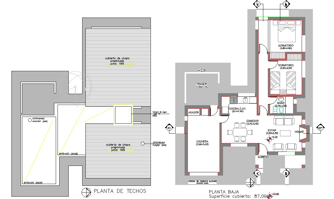 Cottage plan layout file
