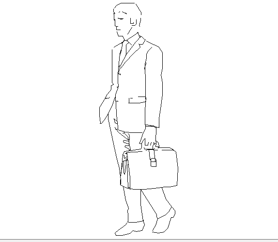 Creative business man cad people block design dwg file