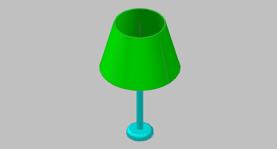 Creative light lamp 3d elevation block cad drawing details skp file