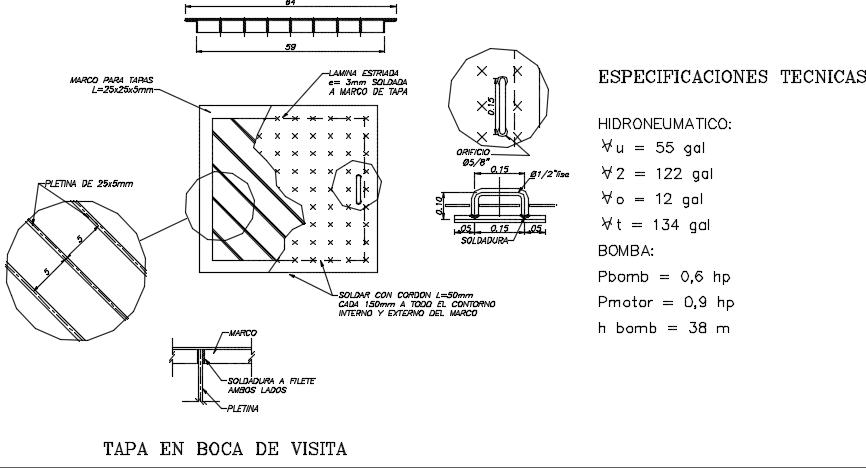 Cub board detail dwg file