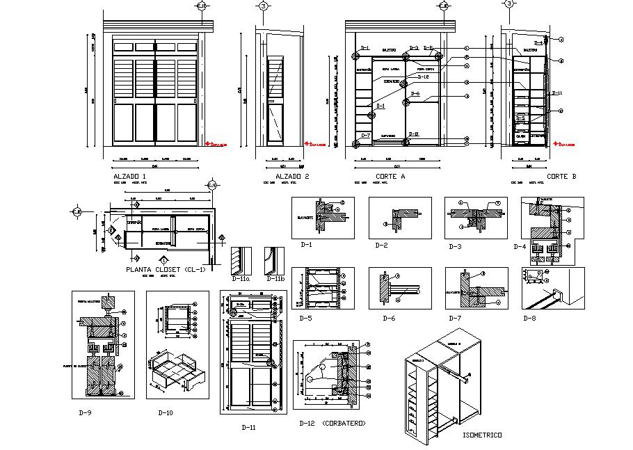 Cub board elevation plan autocad file