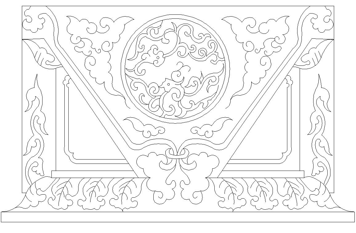 Decorative girl design dwg file