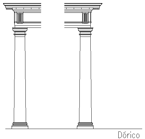 Decorative modern type column design details dwg file
