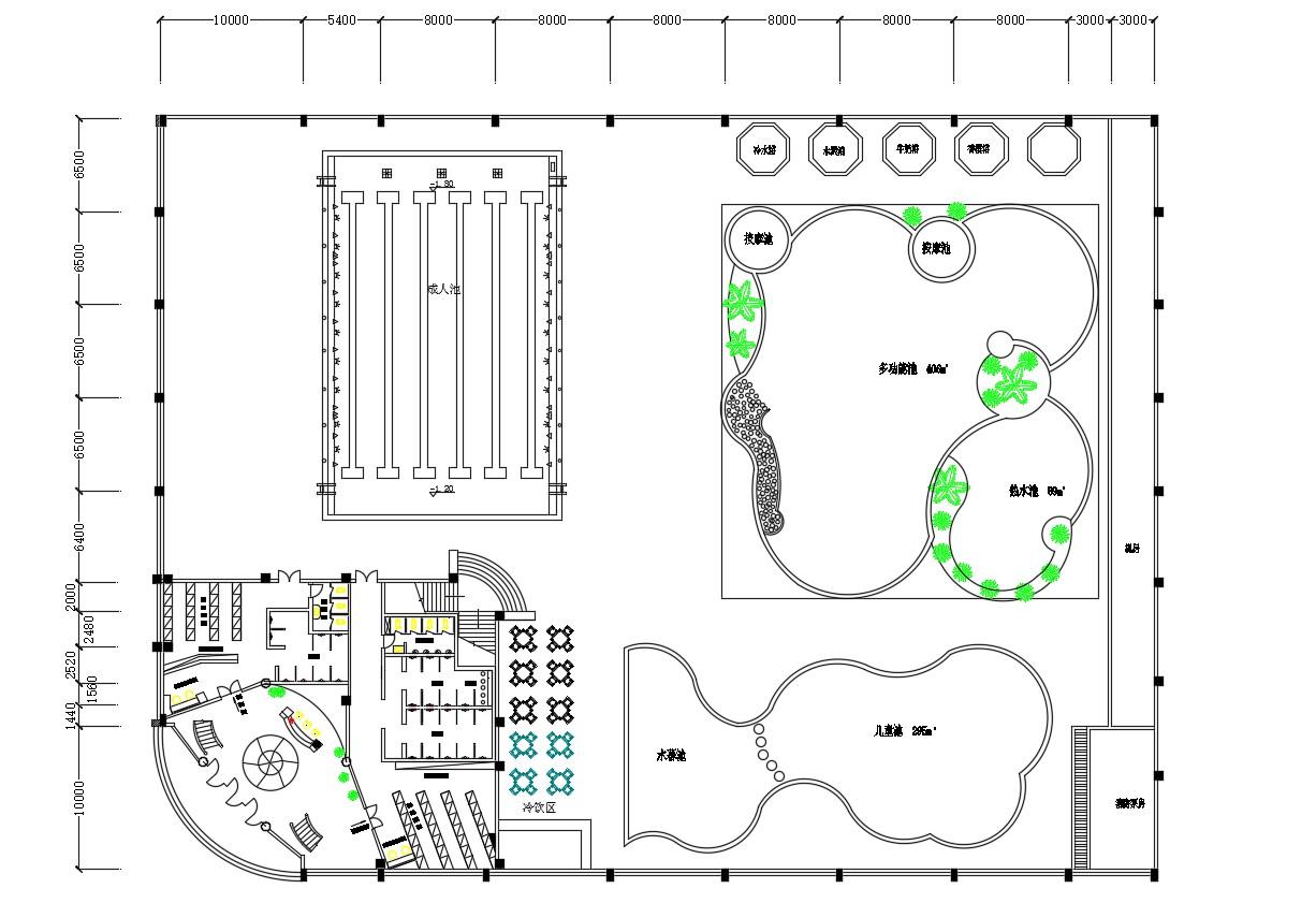 Design Plan Of Club AutoCAD File Free Download