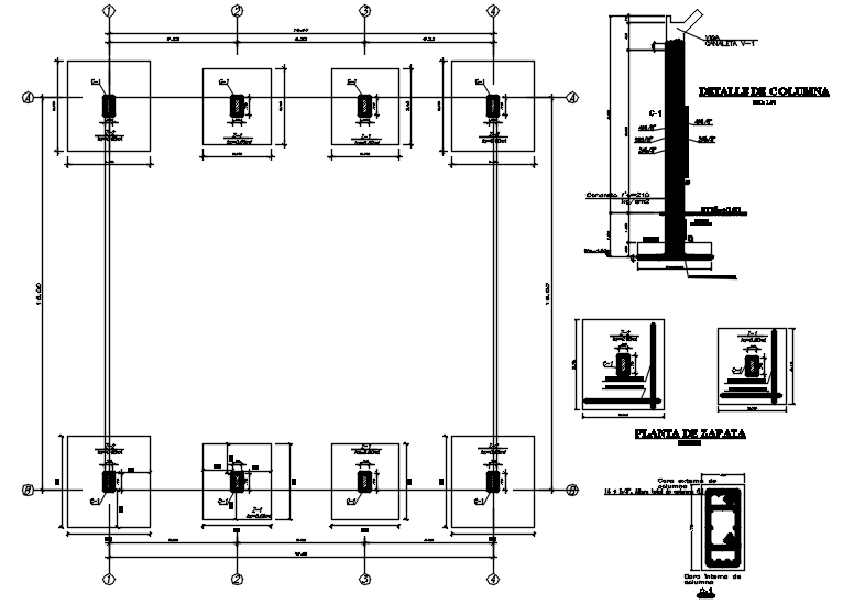 Download Free Foundation Plan In DWG File