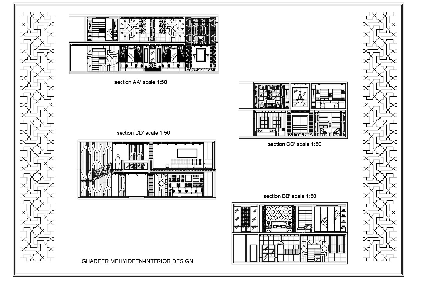 Villa Section In DWG File