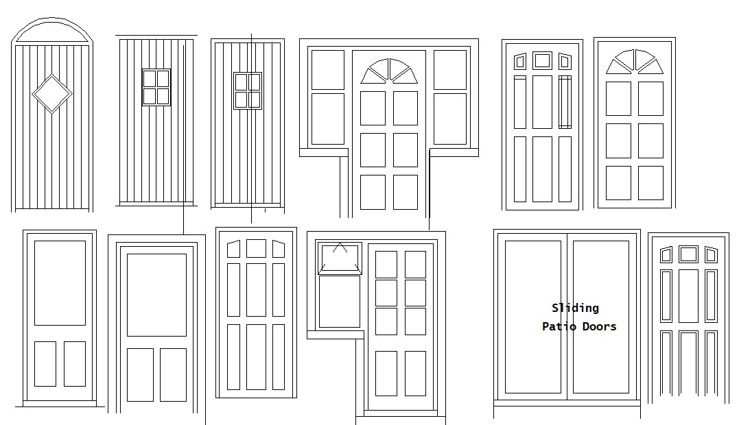 Doors design in AutoCAD file