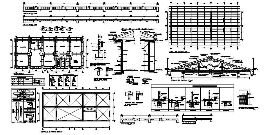 Footing Plan In Autocad File