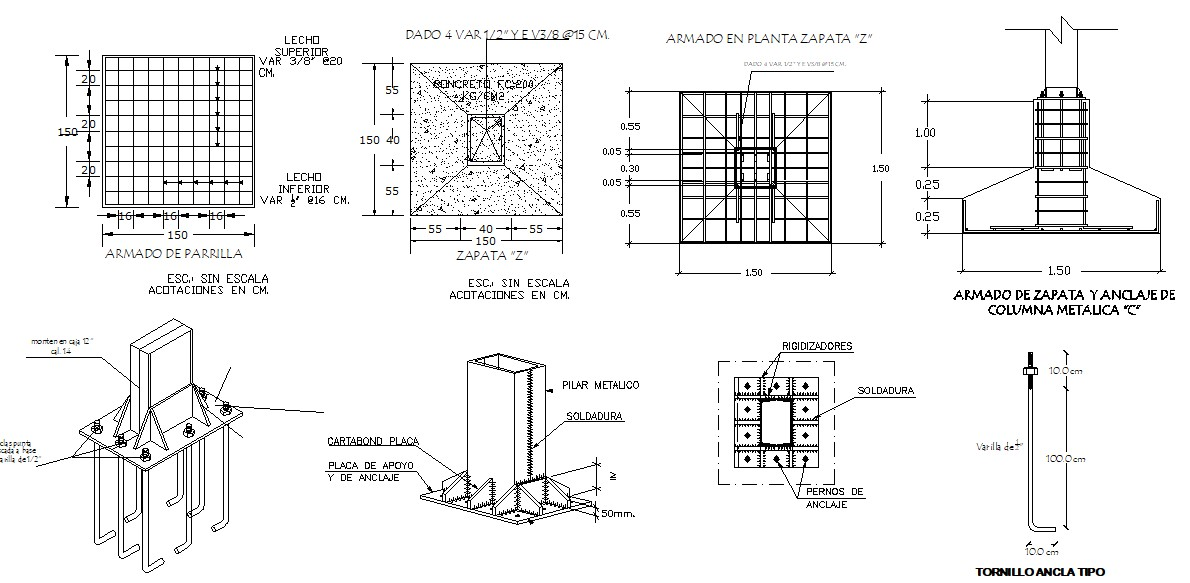 Foundation Structure Design In DWG File