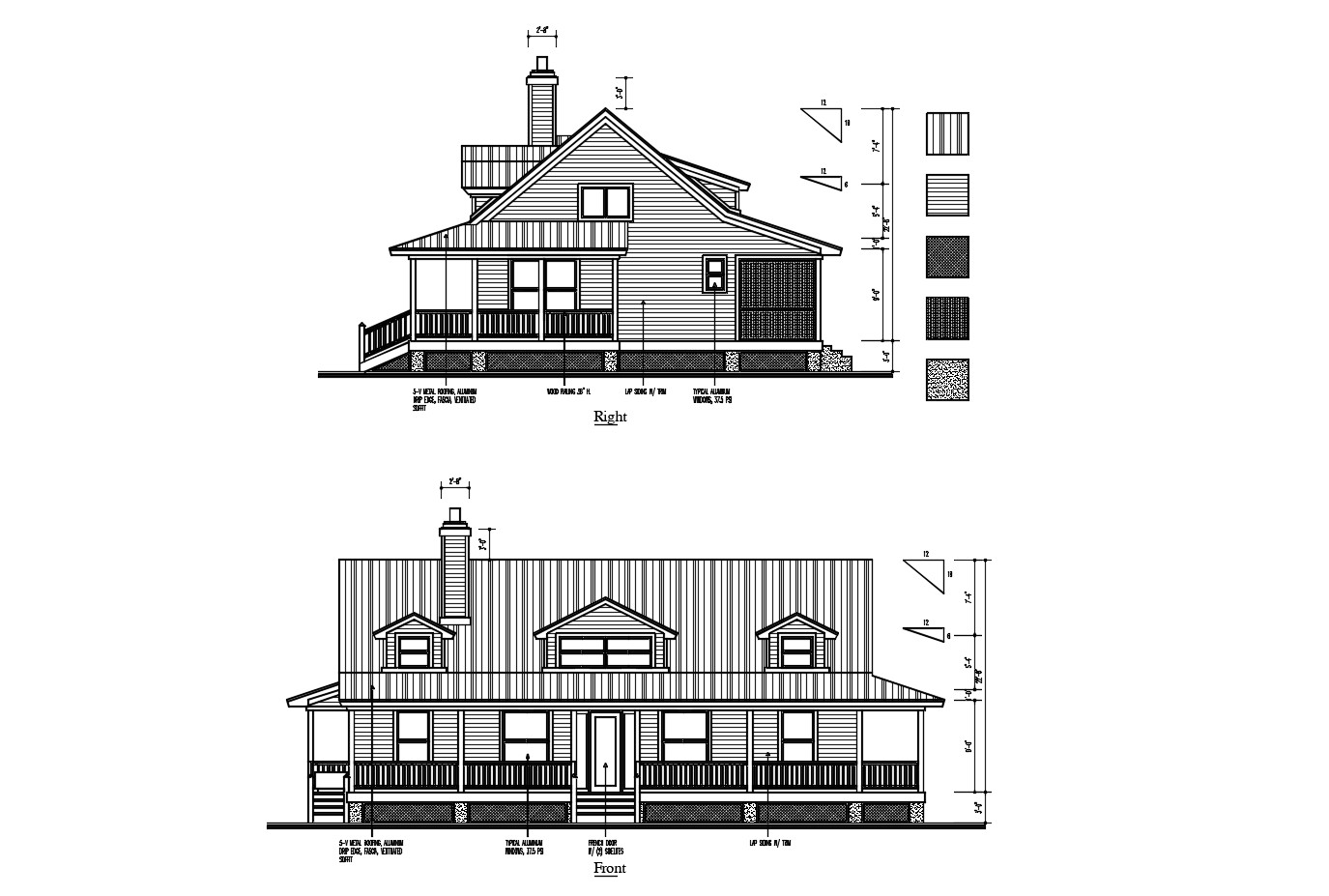 Design of house with elevation in dwg file