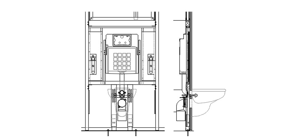 Design of sink in dwg file