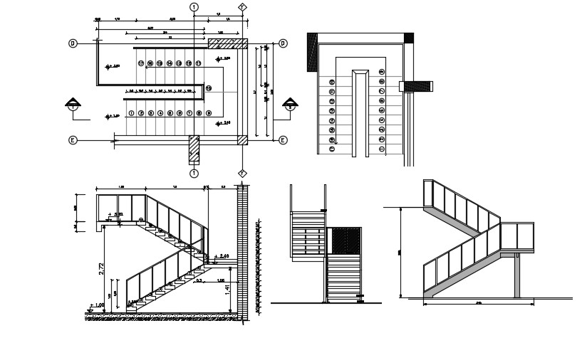 Staircase design in DWG file