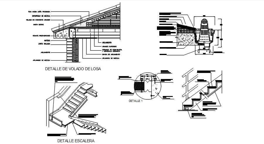 Staircase Drawing in AutoCAD File