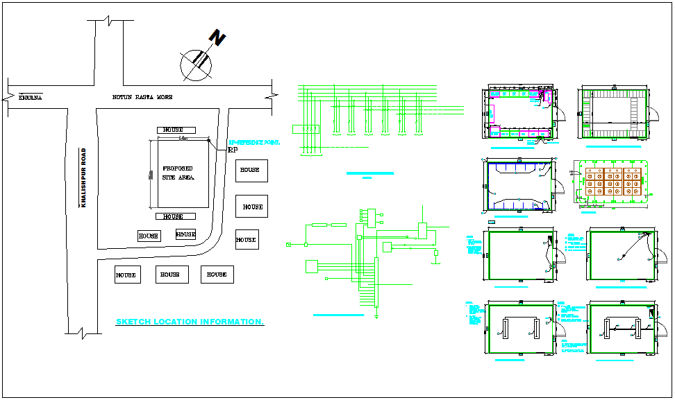 Design of telecommunication tower with electrical detail