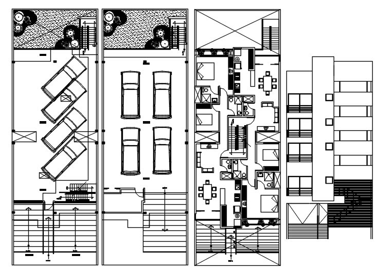 Bungalow Architecture Plan In AutoCAD File