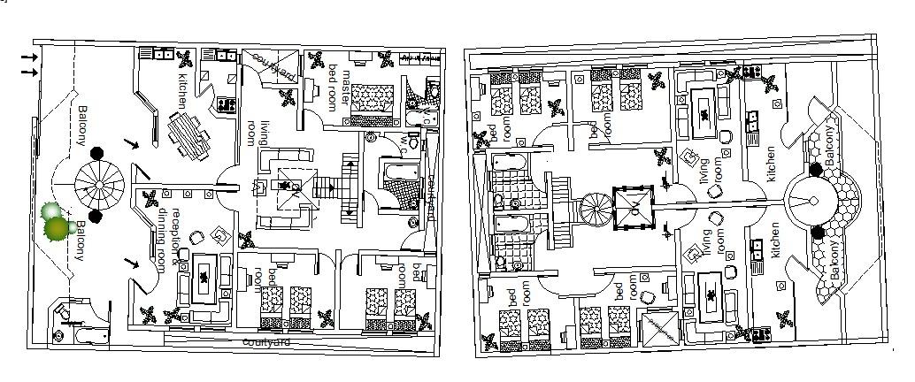 House furniture design in DWG file