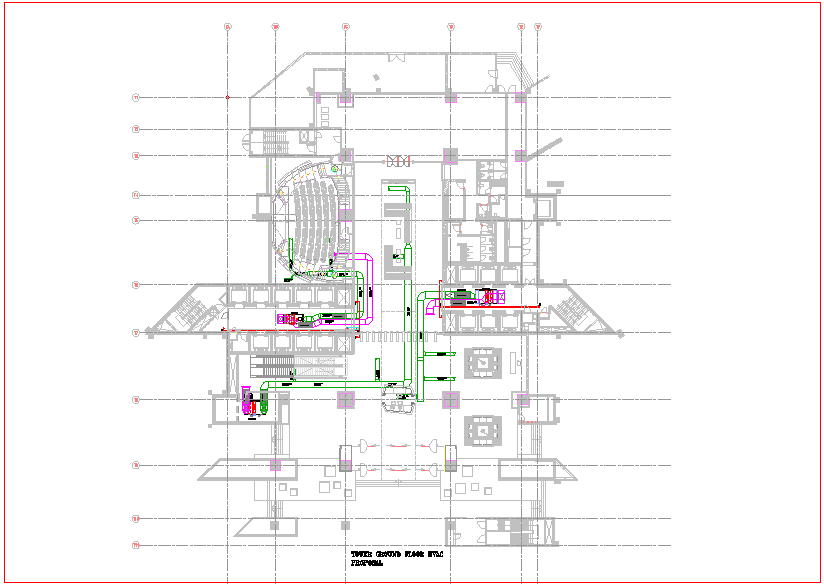 Design of tower with view of ground level