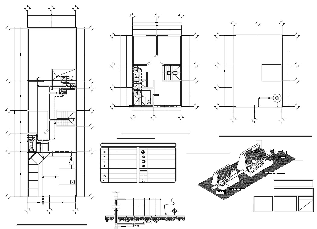 Water supply distribution system in AutoCAD file