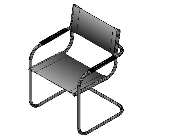 Designer chair 3d elevation detail