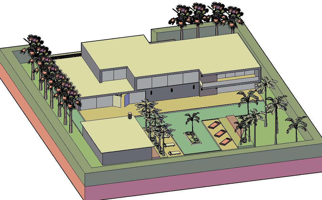 Detail 3 D house plan