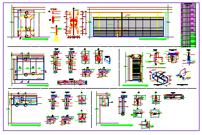 Detail drawing of  windows openings design