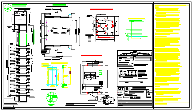 Detail drawing of Elevator design drawing