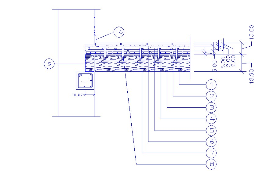 Detail drawing of the interior in dwg file
