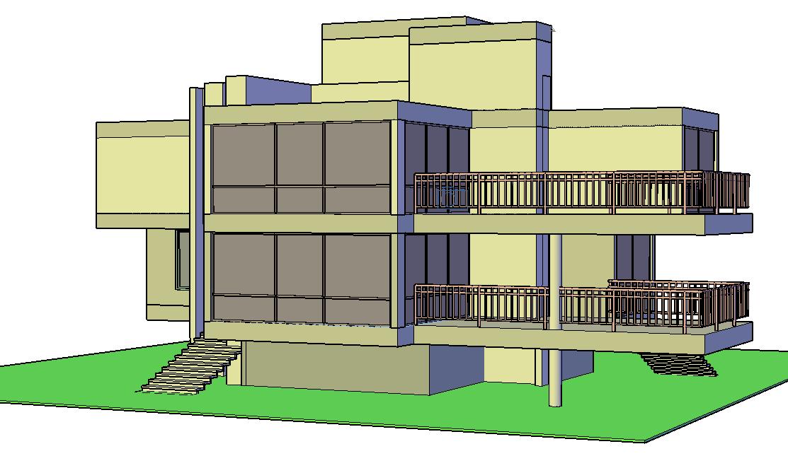Detail of 3 D plan autocad file