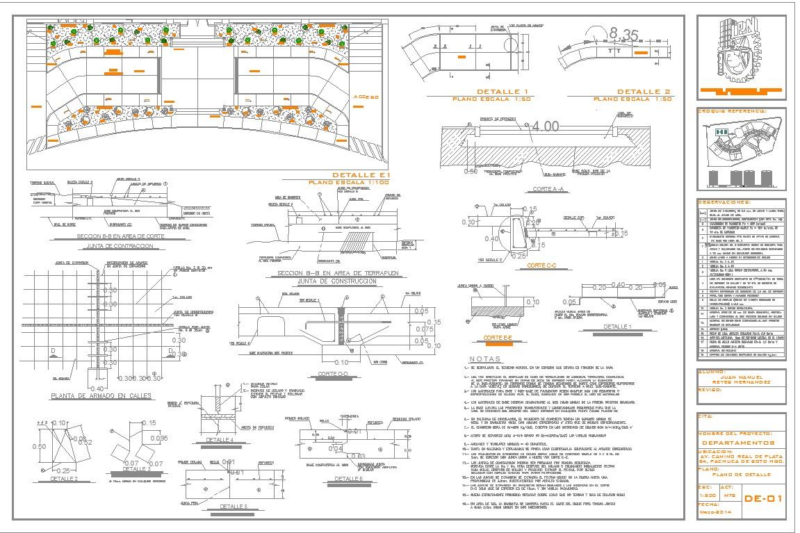 Detail of rcc bench cad drawing