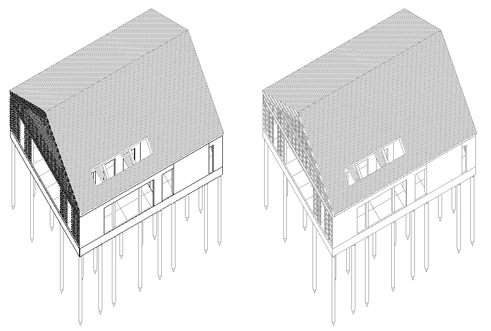 Detail of section house layout file