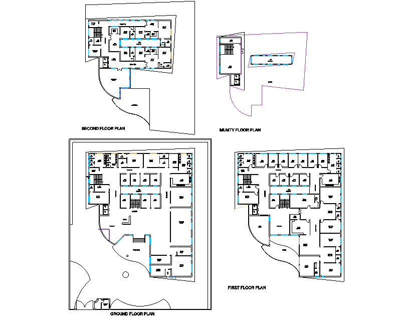 Detail office plan dwg file