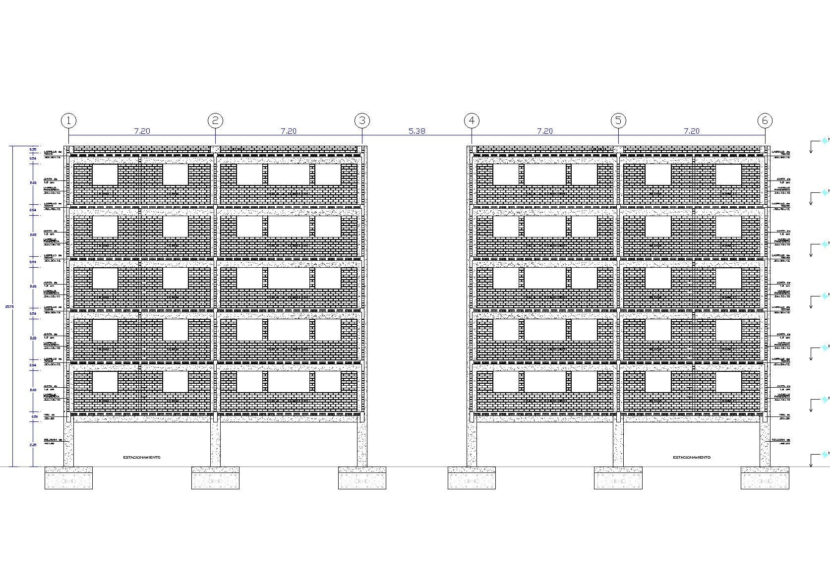 Details of slabs and walls plan detail dwg file.
