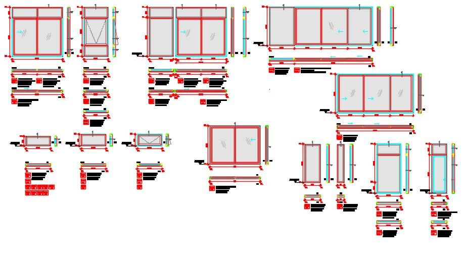Details pvc window thermal panels