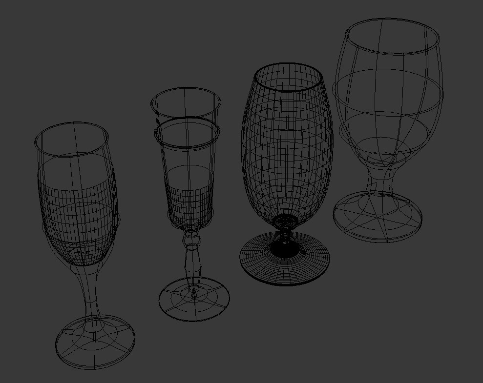 Different Types Of Glasses In 3D  Max Free File