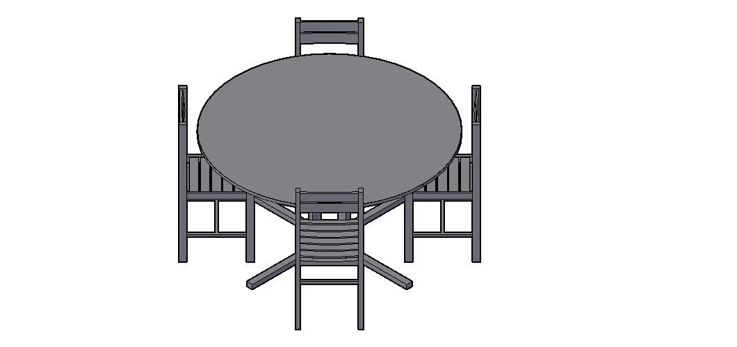 Dining Table 3D Model In AutoCAD File