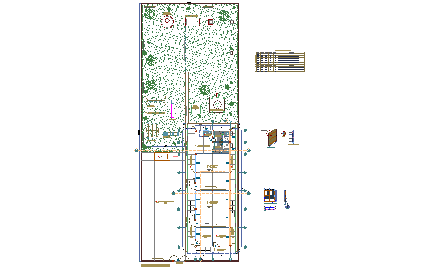 Distribution plan with door and window detail of school dwg file