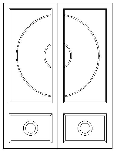 Door Frame Design and Front Elevation dwg file
