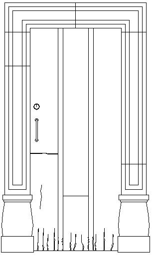 Door Frame Design and Front Elevation dwg file