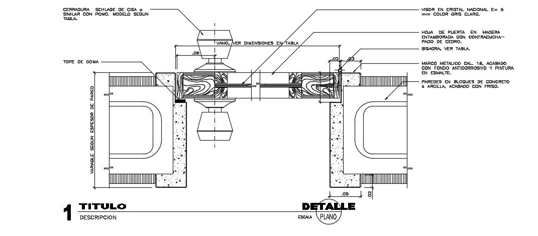 Door Frame Detail In AutoCAD File