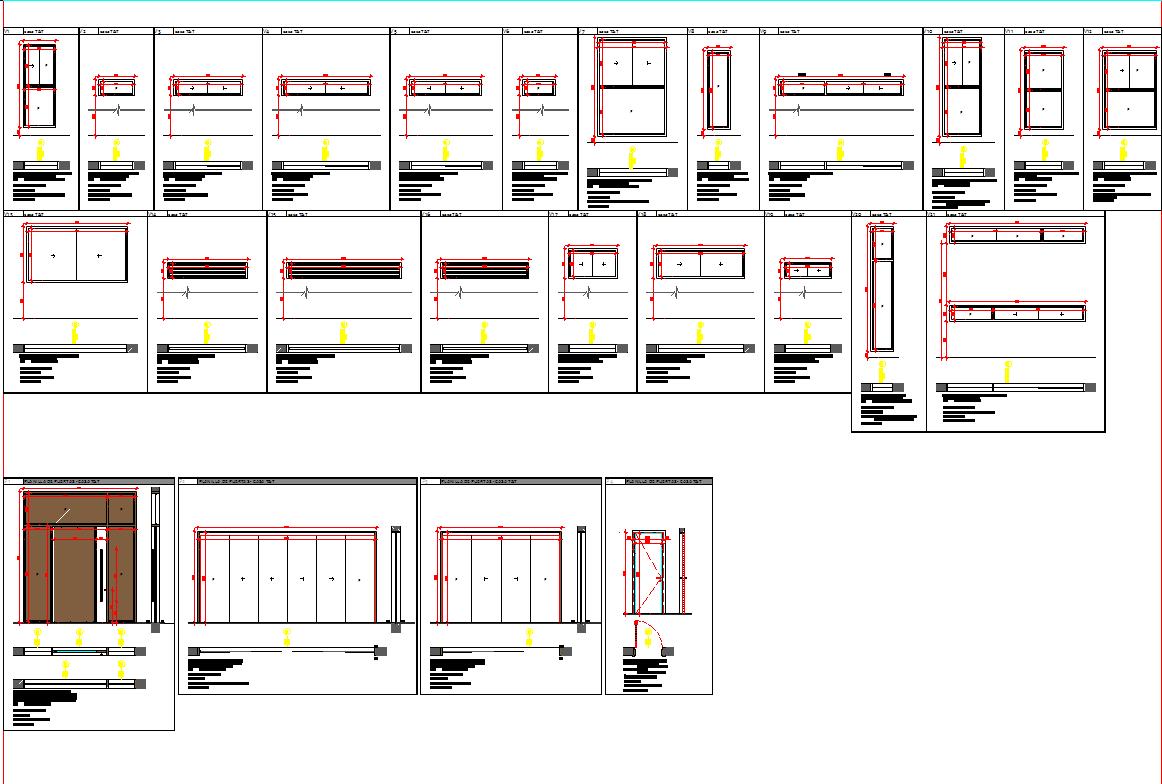 Door and Window design blocks