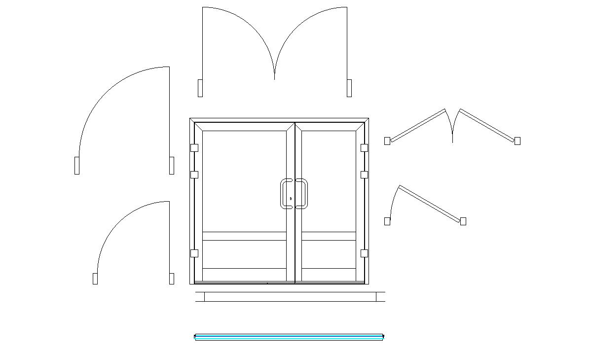 Door and window blocks with detailed dwg.