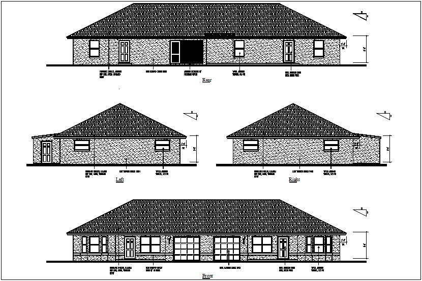 Roman House Project detail dwg file.