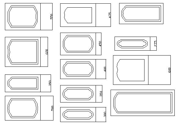 Door design blocks details dwg file